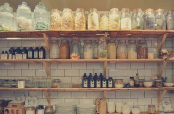 Jar canning shelves