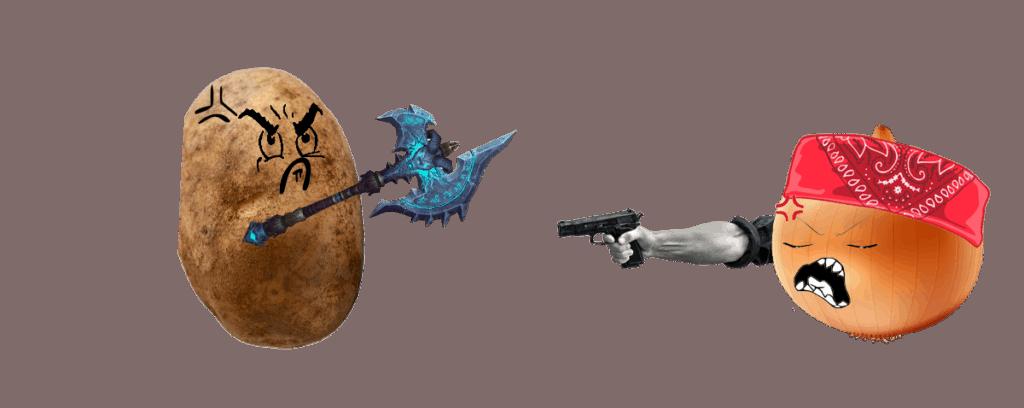 potato vs onion, don't store together