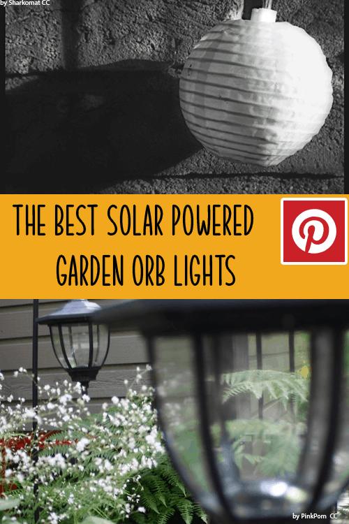 solar powered garden orb lights
