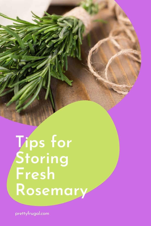 Tips for Storing Fresh Rosemary